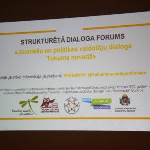 Jaunieši un politiķi forumā izvirza Tukuma novada jaunatnes jomas prioritātes