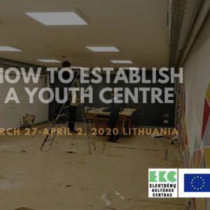 Izsludināta pieteikšanās starptautiskām apmācībām par jauniešu centru izveidošanu