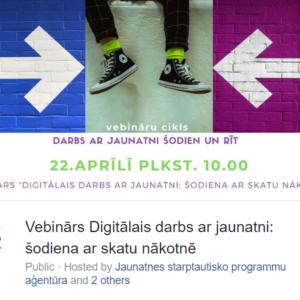 Diskusijas par digitālā darba ar jaunatni attīstību ilgtermiņā