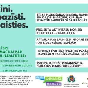 Creative Minds For Culture turpina attīstīt jauniešu informētību par līdzdalības iespējām