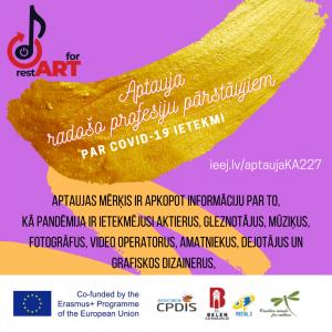 Aptauja kultūras un radošo profesiju pārstāvjiem par COVID-19 pandēmijas ietekmi